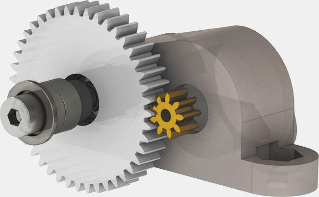 Linefollower gearbox drivetrain
